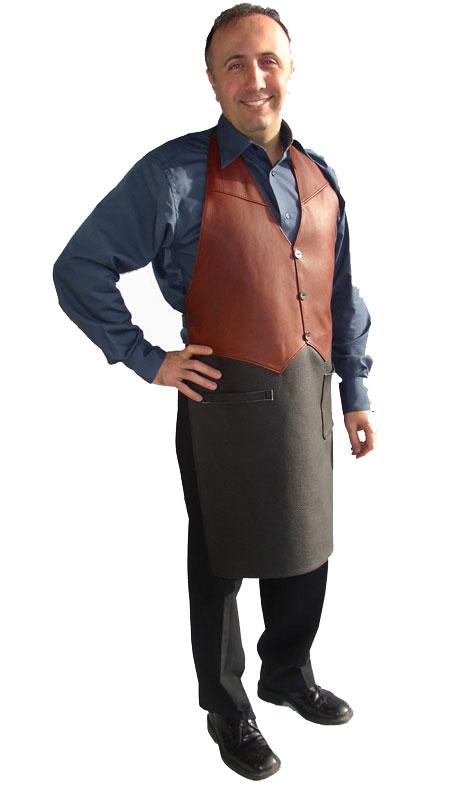 kockförkläde i skinn